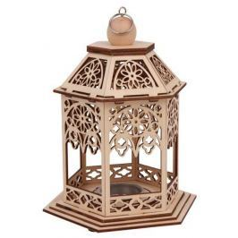 Dřevěné dekorace - Stojánek na čajové svíčky Pavilón