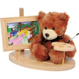 Dřevěný dekorativní stojánek s medvídkem