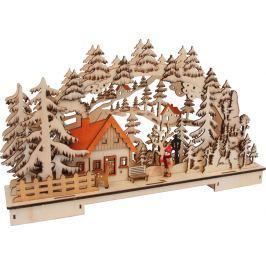Vánoční svítící dekorace - Zimní krajina