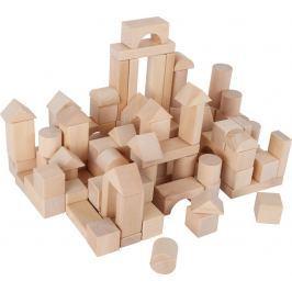 Dřevěné kostky přírodní 100ks