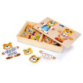 Dřevěné hračky - Oblékání medvídků 2 medvědi