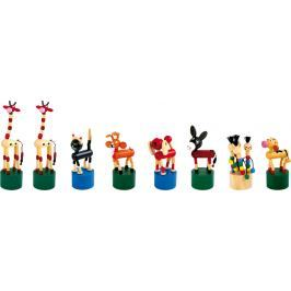Dřevěné hračky - Mačkací figurky zvířátka 8 ks