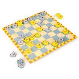 Dřevěné hry - Dáma Kočka a myš