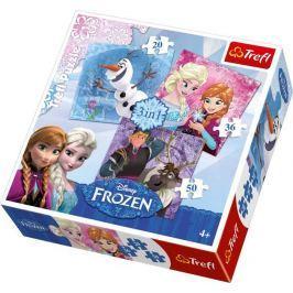 Puzzle Ledové království  3v1 - Frozen