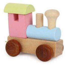 Dřevěné hračky - Vláček abeceda - Barevná lokomotiva
