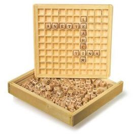 Dřevěné hry - Dřevěná hra Scrabble
