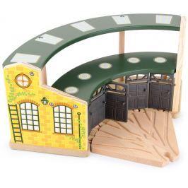 Dřevěná vláčkodráha - Kruhový rozcestník 2díly