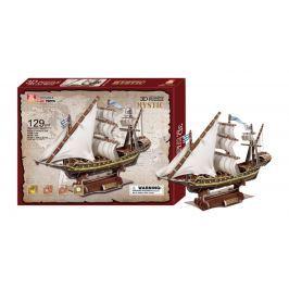 Třívrstvé pěnové 3D puzzle historická plachetnice loď Mystic