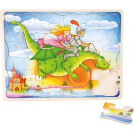 Dřevěné puzzle Létající drak