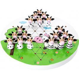 Dřevěná hra - Halma - kravičky