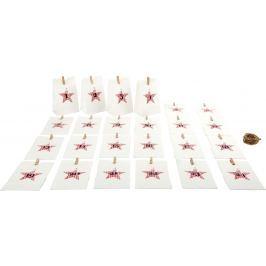 Adventní kalendář - Papírové taštičky bílé