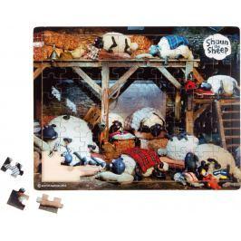 Dřevěné puzzle Ovečka Shaun před spaním 100 dílků
