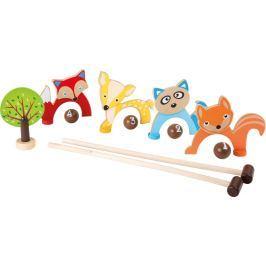 Dřevěné hry - Dětský kroket v síťce zvířátka