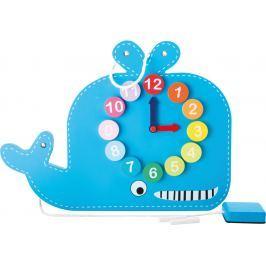 Didaktivní tabule s hodinami velryba