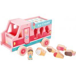 Dřevěný vkládací zmrzlinový vůz