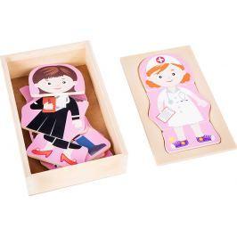 Dřevěné puzzle - Dívčí sen - Povolání