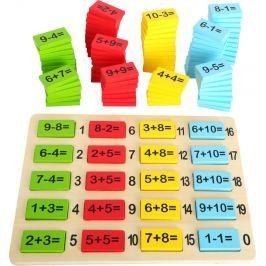 Dřevěná barevná matematická tabulka součty