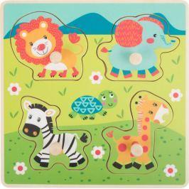 Dřevěné vkládací puzzle - Safari