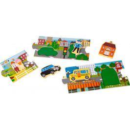 Dřevěné puzzle - Panorama města