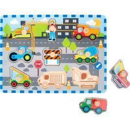 Vkládací puzzle - Stavební stroje