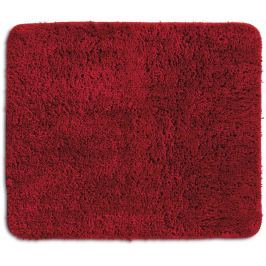 KELA Koupelnová předložka LIVANA 100% polyester 80x50cm červená