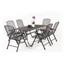 MWH Basani 6+ sestava nábytku z tahokovu (6x pol. křeslo Savoy Basic, 1x stůl Universal 160)