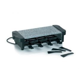 KELA Raclette gril CENERI, s žulovou grilovací plochou, 8 pánviček