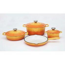 CS SOLINGEN Sada nádobí litinová Xanten 7 ks oranžová