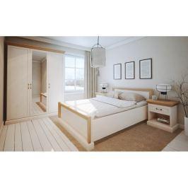 Tempo Kondela Ložnicová sestava nábytku, sosna bílá nordická, ROYAL