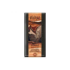 VIVANI Hořká čokoláda nugátová 100g - BIO