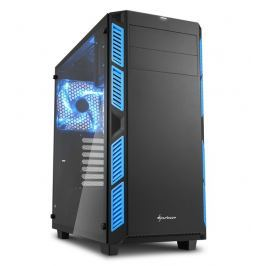 SHARKOON skříň AI7000 Glass Blue / Midi Tower / ATX / 2x USB3.0 / 2x USB2.0 / pr