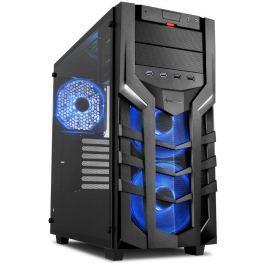 SHARKOON skříň DG7000-G RGB / Middle Tower / 2x USB3.0 / 2x USB2.0 / průhledná b