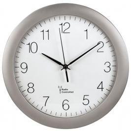 Hama nástěnné hodiny PG-300, řízené rádiovým signálem, stříbrné