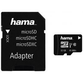 Hama microSDHC 32 GB UHS-I 45 MB/s Class 10 + Adaptér