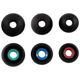 Hama náhradní silikonové špunty, 3 páry, černá