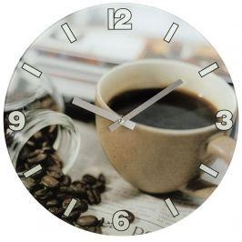 Hama nástěnné hodiny Coffee, tichý chod, skleněné