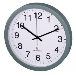 Hama nástěnné hodiny PG-300, řízené rádiovým signálem, tichý chod, zelené