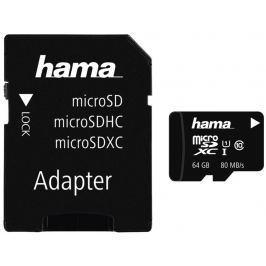 Hama microSDXC 64 GB Class 10 UHS-I 80 MB/s + Adapter/Mobile
