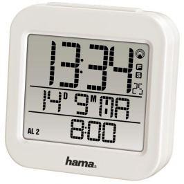 Hama RC 130 digitální budík, řízený rádiovým signálem, bílý