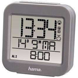 Hama RC 130 digitální budík, řízený rádiovým signálem, šedý