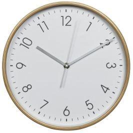Hama HG-320, dřevěné nástěnné hodiny, tichý chod, bílé