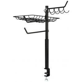 Xavax odkládací držák pro gril, výškově nastavitelný (60-72 cm), černý