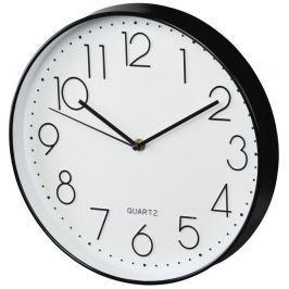 Hama Elegance nástěnné hodiny, průměr 30 cm, tichý chod, černé/bílé