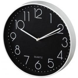 Hama Elegance nástěnné hodiny, průměr 30 cm, tichý chod, bílé/černé