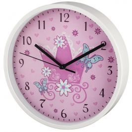 Hama Crown dětské nástěnné hodiny, průměr 22,5 cm, tichý chod