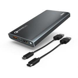 Hama Premium Alu, powerbanka, 12000 mAh, Qualcomm® Quick Charge™ 3.0, antracitov