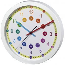 Hama Easy Learning dětské nástěnné hodiny, průměr 30 cm, tichý chod