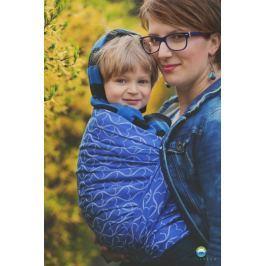 LITTLE FROG Žakárový tkaný šátek na nošení dětí - Blue Hourglasses, L