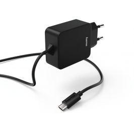 Hama síťová nabíječka s kabelem, USB typ C (USB-C), 3 A