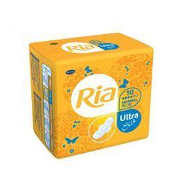 Ria Ultratenké hygienické vložky pro normální a silnější menstruaci Ultra Silk Normal Plus 10 ks